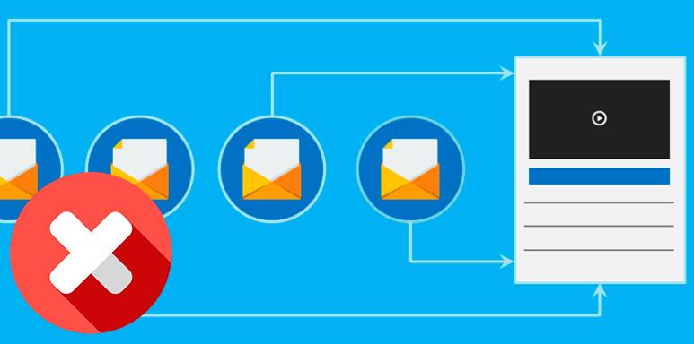 No hay buenas secuencias de correo electrónico después de registrarse
