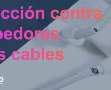 Protección contra roedores para los cables de fibra óptica